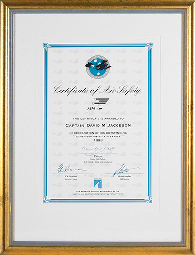 Certificate of Air Safety
